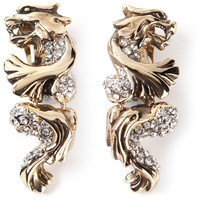 Roberto Cavalli panther earrings