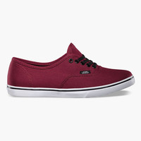 Vans Authentic Lo Pro Womens Shoes Tawny Port/True White  In Sizes