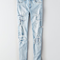 AEO Denim X Hi-Rise Jegging, Icy Repair