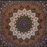 3D - Purple India Star - Tapestry