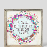 Pretty Smile 7x7 Canvas Wall Art