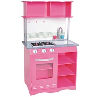 Kids, Toddlers, Interactive Pretend Play Toy Kitchen Set w Realistic Sink, Stove & Microwave