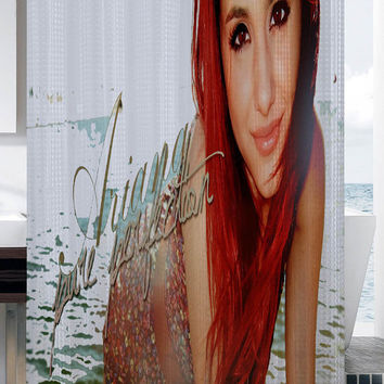 Ariana Grande Wallpaper shower curtain
