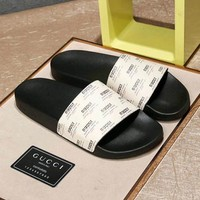 GUCCI Print Slipper Sandals Shoes for Womens Mens Summer Gift