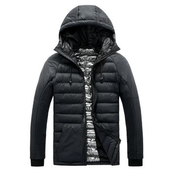 Lightweight Jacket Coat Men Coat Jacket Hooded Winter Warm Cotton Jacket Men Male Parka Quilted Coat Men Fashion Coat