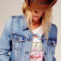 Free People Boyfriend Trucker Denim Jacket