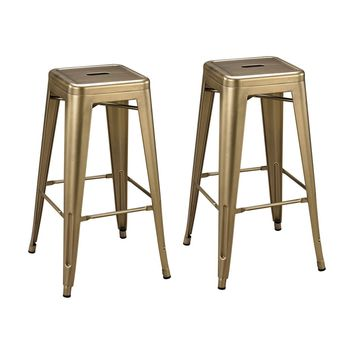"Acento 30"" Bar Stool Antique Gold (set of 2)"