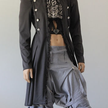 Menswear Steampunk Riding Cosplay Jacket Custom Chrisst Jacket - Unique Fashion - SPECIAL ETSY PRICE