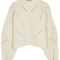 Isabel Marant Farren cropped wool blend jumper