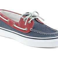 Sperry Top-Sider Men's Canvas Bahama Boat Shoe in Navy and Red 1277425