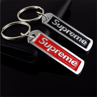 Zinc Alloy Key Chain Letters Supreme Car Keychain Key Ring Waist Hanging Ornaments Key Fob Keyring Family Lovers Couple Gift