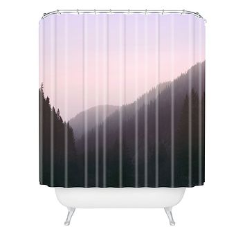 Leah Flores Wilderness x Pink Shower Curtain