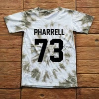 Pharrell Williams Tie dye Shirt Tye Dye Shirt Black Shirt