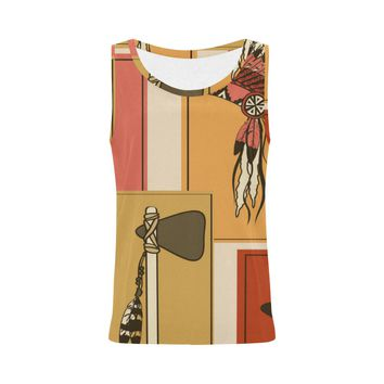 Women Tank Top American Indians Pattern