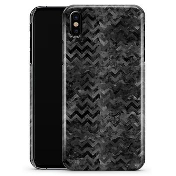 Black Basic Watercolor Chevron Pattern - iPhone X Clipit Case