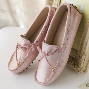 100% Genuine leather Women flats Handmade Women Casual leather shoes Leather Moccasin