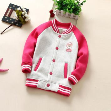 2018 Spring Autumn Children Coat cartoon Pattern