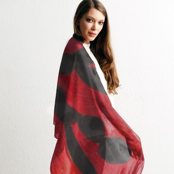 VJ Red & Black Scarf
