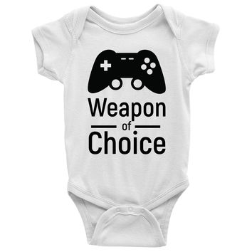 Weapon of Choice Baby Onesuit