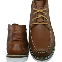 Sperry A/O Double Sole Chukka Mens Leather Boots / Shoes - Tan