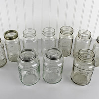 Vintage Atlas Canning Jars Mason Jars  Unusual Size Unique Size