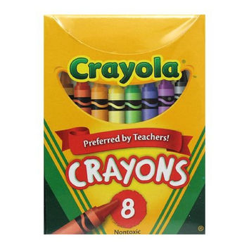 Crayola(R) Standard Crayon Set, Assorted Colors, Box Of 8