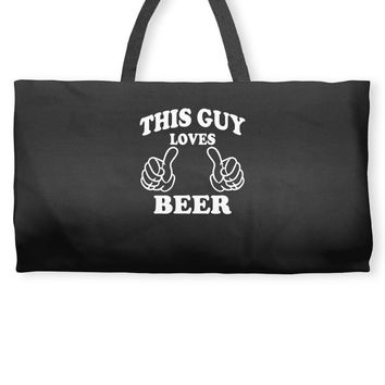 This Guy Loves Beer Weekender Totes