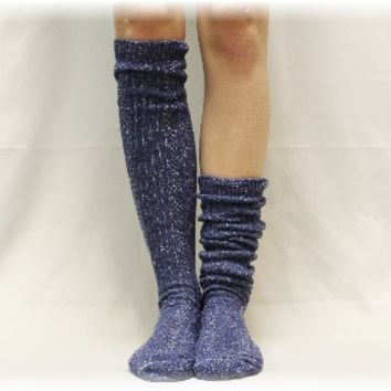 BKS0 vintage blues, denim. Alpine Adore basic tall boot socks, lace boot socks, boot socks, leg warmers, short boot socks, slouch socks, lacey socks, boot cuff socks ,boot toppers,
