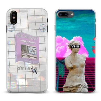 Vaporwave Musical style Logo Coque Phone Case Cover Shell For Apple iPhone X 8Plus 8 7Plus 7 6sPlus 6s 6Plus 6 5 5S SE