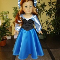 Disney Inspired Ariel (Little Mermaid) Dress and Bow for American Girl Doll.