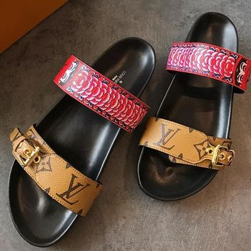 Louis Vuitton Women Fashion Casual Slipper Shoes