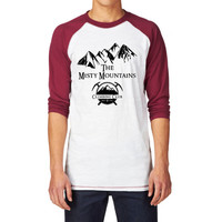 Misty Mountains Climbing Club Unisex Baseball T Shirt, LOTR Tolkien Tee