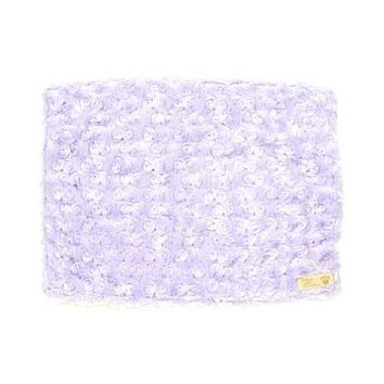 Plush Blanket — Curly Sue French Lavender