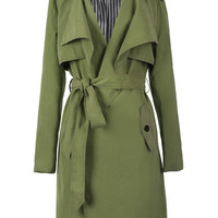 Cupshe See You Tonight Lapel Long Coat