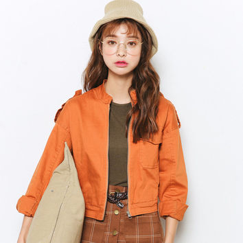Orange Denim Jacket