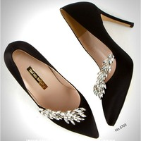 Leaves Jewelry Point Pumps (5703)