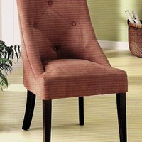 A.M.B. Furniture & Design :: Living room furniture :: Accent chairs :: Mentecito Leisure Chair Upholstered in Microfiber Cognac Color with Espresso Wood Finish Legs