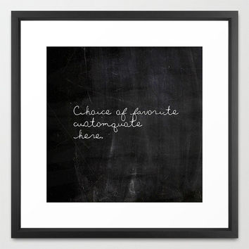 Custom Typography Print - Custom Quote - Typography - Black and White - Chalkboard Print - Wall Art - Inspirational