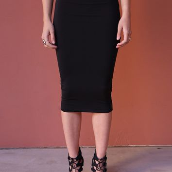 West Coast Wardrobe  Working Late Pencil Skirt in Black