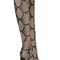 Sam Edelman - Rylan snake-effect leather over-the-knee boots