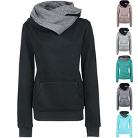 Fashion Women Long Sleeve Hoodie Sweatshirt Sweater Hooded Coat Pullover