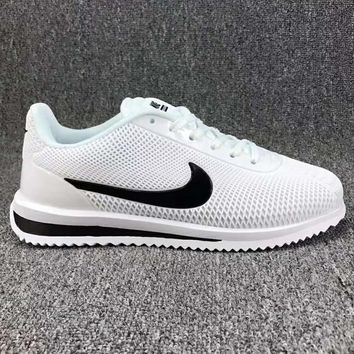 Nike Cortez Ultra Trending Fashion Casual Sports Shoes White Black G Csxy