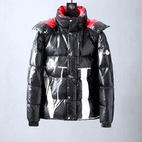 Winter Moncler men's black plus velvet down jacket fashion coat
