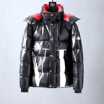 Winter Moncler men s black plus velvet down jacket fashion coat 785f25607ad