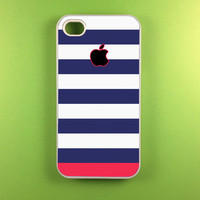 Iphone 4 Case - Blue Pink Stripes Iphone 4s Case, Iphone Case