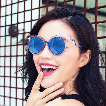 Cat Ear Sunglasses / Rose Gold Sunglasses / Designer Glasses
