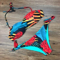 Swimsuit Hot New Arrival Beach Sexy Summer Print Bra Adjustable Swimwear Bikini [10603728079]