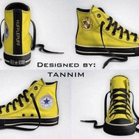 Custom Harry Potter House Hufflepuff Converse Chucks By Tannim - Beauty Ticks