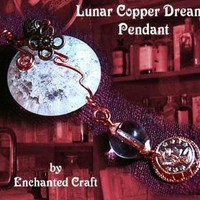 STeamPunk Wire wrapped Crackle Glass pendant by enchantedcraft