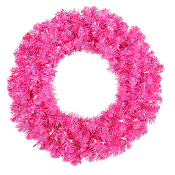 Hot Pink Wreath 70 Pink Lts 260T (30‰ۡ)